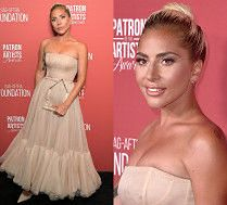 Opalona Lady Gaga odbiera nagrodę w sukni od Diora