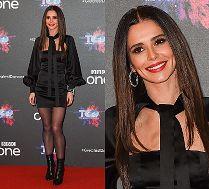 Szczęśliwa Cheryl Cole w sukience za 5 tysięcy prezentuje nową twarz