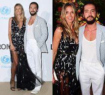 Heidi Klum i gitarzysta Tokio Hotel razem na gali we włoskim kurorcie