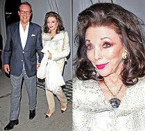 Szczęśliwa Joan Collins wychodzi z randki w Hollywood