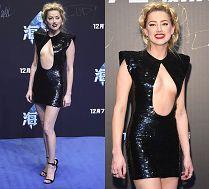 Uradowana Amber Heard eksponuje klatkę piersiową na premierze