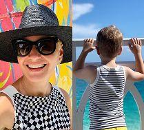 Małgorzata Kożuchowska relaksuje się na Bahamach. Pochwaliła się zdjęciem z synem (FOTO)