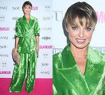 Katarzyna Sokołowska lansuje modę na aksamitne garnitury XXL