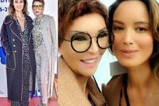 """Berenice Marlohe pozuje z Ewą Minge. Projektantka pokazała zupełnie nową fryzurę. """"Prima sort babka!"""" (FOTO)"""