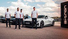 Lewandowski i jego koledzy z drużyny mieli okazję potestować e-trony GT