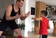 Trening Mateusza Masternaka z synem