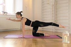 Jedno z ćwiczeń pilates - Bird Dog