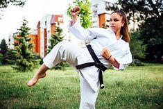 Zawodniczka uprawiająca karate
