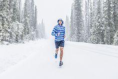 Bieganie zimą w krótkich spodenkach - to nie jest najlepszy pomysł