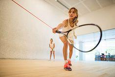 Kobiety grające w squasha