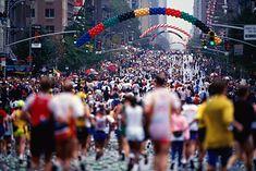 Biegacze podczas maratonu w Nowym Jorku