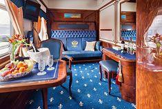 Wnętrze jednego z przedziałów luksusowego pociągu transsyberyjskiego