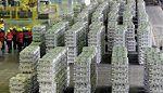 Ekspoort aluminium z Rosji wzrósł o prawie 3 procent