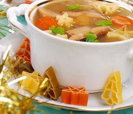 Zupa grzybowa z korkami anchois