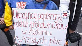 Pracownicy z Ukrainy na tyle zasymilowali się z naszym rynkiem pracy, że biorą nawet udział w polskich protestach