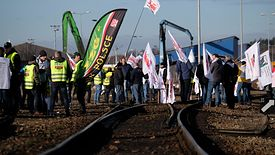 Protest związkowców trwał cztery godziny. Efekt: sześć opóźnionych pociągów