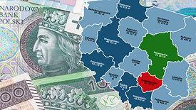 Dochody w woj. mazowieckim są zdecydowanie wyższe niż w pozostałych częściach kraju.