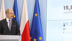 Rządowa konferencja prasowa poświęcona przeksztalceniu OFE w IKE.