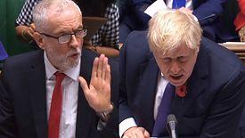 Jeremy Corbyn i Boris Johson starli się przed głosowaniem nad skrócenie kadencji parlamentu