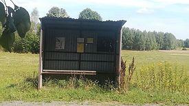 Jeden z przystanków w gminie Mrozy. Kiedyś odjeżdżało z niego więcej autobusów.
