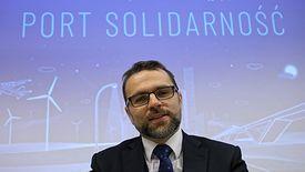 Warszawa, 04.12.2018. Jacek Bartosiak podczas konferencji prasowej, na której zaprezentowano zarząd CPK.