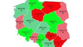 Różnice w zarobkach w różnych regionach Polski bywają ogromne.
