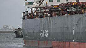 """""""Węgiel Stop"""". Taki napis Greenpeace wymalował na statku z Mozambiku"""