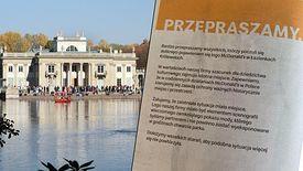 McDonald's przeprasza za pływającą reklamę w Łazienkach Królewskich w Warszawie