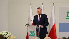 Andrzej Duda przekonywał, że świadczenia wypłacane przez ZUS są pewne.