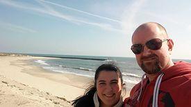 Michał Matuszewski, na zdjęciu z żoną, mieszka w Portugalii od 9 lat.