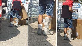 Kurier rozwoził paczki, choć miał złamane nogi. Pracownicy branży mówią, że kurierom zdarza się jeździć nawet z chorobami zakaźnymi