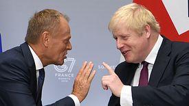 Donald Tusk i brytyjski premier Boris Johnson