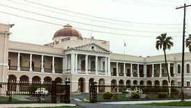Budynek parlamentu w Gujanie.
