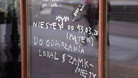 Większość pracowników gastronomii od kilku tygodni jest bez pracy
