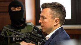 Marek Falenta podczas rozprawy ws. Afery Podsłuchowej.