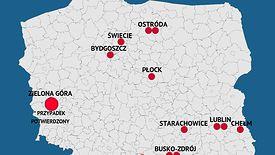 Koronawirus w Polsce. Zielona Góra z pierwszym przypadkiem. Mapa podejrzeń