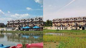 Zdjęcie po lewej pokazuje Miłocin sprzed roku. Te po prawej pokazuje, jak ośrodek wygląda teraz.