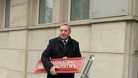 Henryk Kowalczyk symbolicznie likwiduje ministerstwo, 3 stycznia 2017