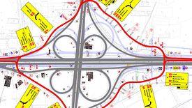 Budowa autostrady A1 na odcinku Tuszyn - Piotrków Trybunalski wkracza w nową fazę.