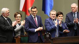 Likwidacja OFE ma być jednym z pierwszych zadań nowego rządu. Na zdjęciu Mateusz Morawiecki po swoim pierwszym expose