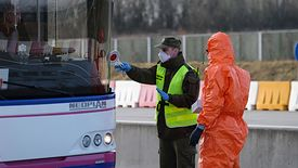 Kontrola sanitarna - tu na granicy z Czechami