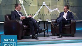 """Kadr z programu """"Biznes mówi"""", którego gościem był Janusz Jankowiak"""