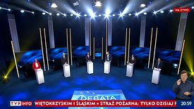 Debata w TVP Info zaczęła się od wypowiedzi o euro