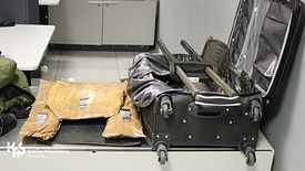 W walizce były trzy paczki narkotyków.