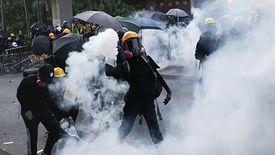Hongkong. Protestujący po raz kolejny starli się z policją