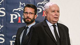 Radosław Fogiel i Jarosław Kaczyński