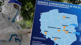 Koronawirus w Polsce rozwija się w ogniskach. Tak wygląda ich mapa w tej chwili