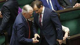 Sejm. Jarosław Gowin i Zbigniew Ziobro