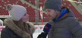 Kinga Kwiecień uczy się jeździć na łyżwach z Mariuszem Czerkawskim