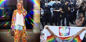 """Spowita tęczową poświatą Małgorzata Rozenek opowiada się po stronie protestujących: """"JESTEM Z WAMI"""""""